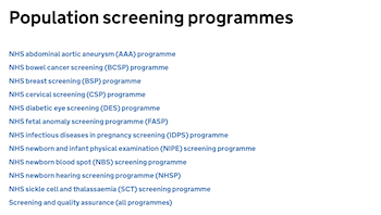 UK Newborn Screening Programme Centre