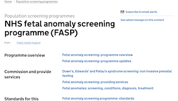 Fetal Anomaly Screening Programme