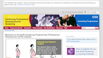NHS resources to support the antenatal and newborn screening programme