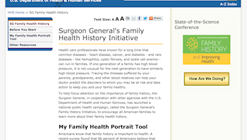 Surgeon General's Family Health History Initiative