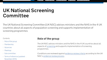 UK National Screening Committee