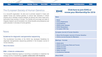 The European Society of Human Genetics